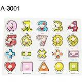 goupgolboll-木製漫画動物フルーツジグソーパズル把握ボードキッズ早期教育玩具 - A-3001