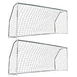 クイックプレイ 組み立て式 サッカーゴール 5m×2m MF216 2台セット UPVCフレーム 折りたたみ サッカー ゴール