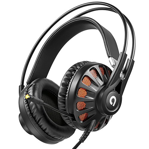 AudioMX ゲーミングヘッドセット 7.1ch バーチャルサラウンドサウンド PC PS4対応 USB オーバーヘッド 密閉型 マイク・リモコン付き HS-11B