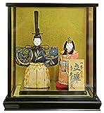 雛人形 久月 ひな人形 雛 木目込人形飾り ケース飾り 親王飾り 立雛 一秀作 0号 h303-k-31926