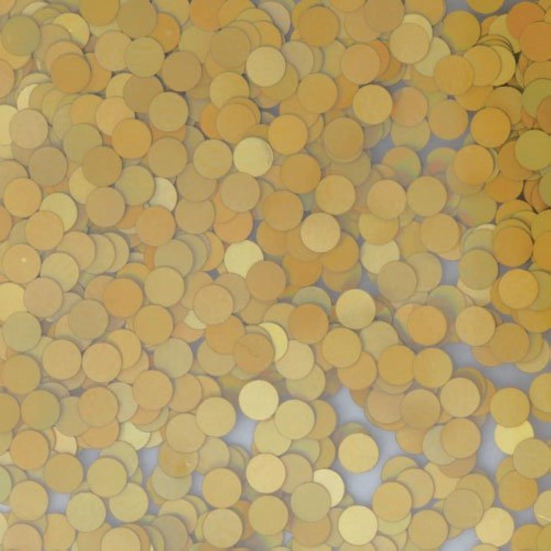 水差しパトワ段階ピカエース ネイル用パウダー 丸ホロ 2mm #879 マットゴールド 0.5g