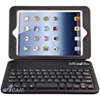 Acase iPad mini キーボード ケース UltraThin Bluetooth Keyboard Case 手帳型 スタンド機能/キーボード 付 PU レザーケース for Apple iPad mini/iPad mini2 第2世代 2013 / iPad mini3 第3世代 2014