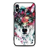 iPhone7plus/8plusケース 狼 オオカミ ウルフ 動物 カラフルな狼 スマホケース 耐衝撃カバー iPhone8plusケース レンズ保護 携帯カバー すり傷防止 iPhone7plusケース オシャレ