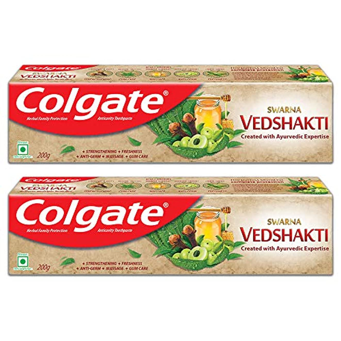 Colgate Swarna Vedshakti Toothpaste - 200gm (Pack of 2)