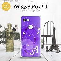 Google Pixel 3 スマホケース カバー 花・フラワー 紫 パープル 【対応機種:Google Pixel 3】【アルファベット [D]】