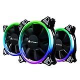 Best ケースファン - 【3個セット】AMZtronics 12cm RGBカラー 超静音ケースファン LEDリングを装着した水冷ラジエーターファン 12v Review
