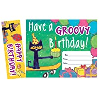 Pete the Cat Have a Groovy Birthday Bookmark Awards - 30/pkg [並行輸入品]