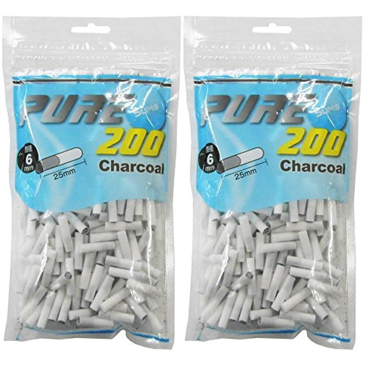 聖域博覧会実現可能pure 063342 ピュアスリム 手巻きタバコ用スリム チャコールフィルター 200個入り 2?3?4個セット