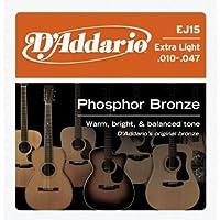 D'Addario EJ15 Phosphor Bronze Extra Light アコースティックギター弦×5セット