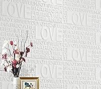 SOOMJ 【10枚 ホワイト】クッションブリック LOVE壁紙シール 70cm×58cm 防水 防音 断熱 ウォールステッカー レンガタイル 3D おしゃれ 軽量 発泡スチロール風 インテリア リビング 子供部屋 ドリーム