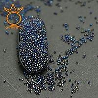 AiCheaXミニバブルキャビアビーズスタッドネイルラウンドボールラインストーンビーズ3D宝石キラキラキャビアボールのヒントネイルアートAiCheaX(色:写真のように)