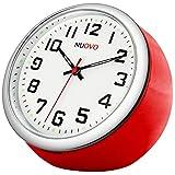 NUOVO 置き時計 ミニ時計 レッド 車用 小型 クオーツ 時計 アナログ表示