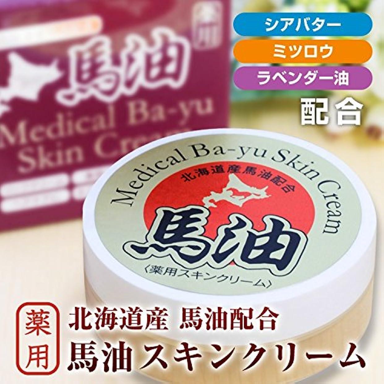 早く安全気をつけて北海道産馬油配合 薬用馬油スキンクリーム(20g)/医薬部外品 国産馬油//