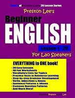 Preston Lee's Beginner English Lesson 1 - 20 For Lao Speakers