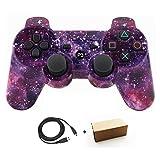 Bowink PS3用 ワイヤレスコントローラー 互換 USB ケーブル付属 (星空の色)