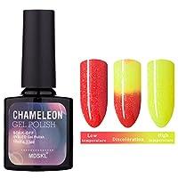 Kapmore カラージェル ネイルジェル ポリッシュ マニキュア LED UV対応 ネイルアート 全40色 温度により色が変化 3段階変色 10ml 初心者 持ちよし (36)