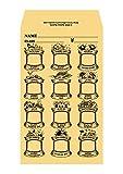英語月謝袋 茶色(クラフト紙)20枚 English Monthly Lesson Fee Envelopes