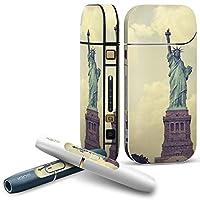 IQOS 2.4 plus 専用スキンシール COMPLETE アイコス 全面セット サイド ボタン デコ 外国 ニューヨーク 自由の女神 011333