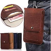 SimpleLifeユニバーサルフォンウエストバッグFlip Faux Leather PocketsモデルベルトポーチホルスターNew