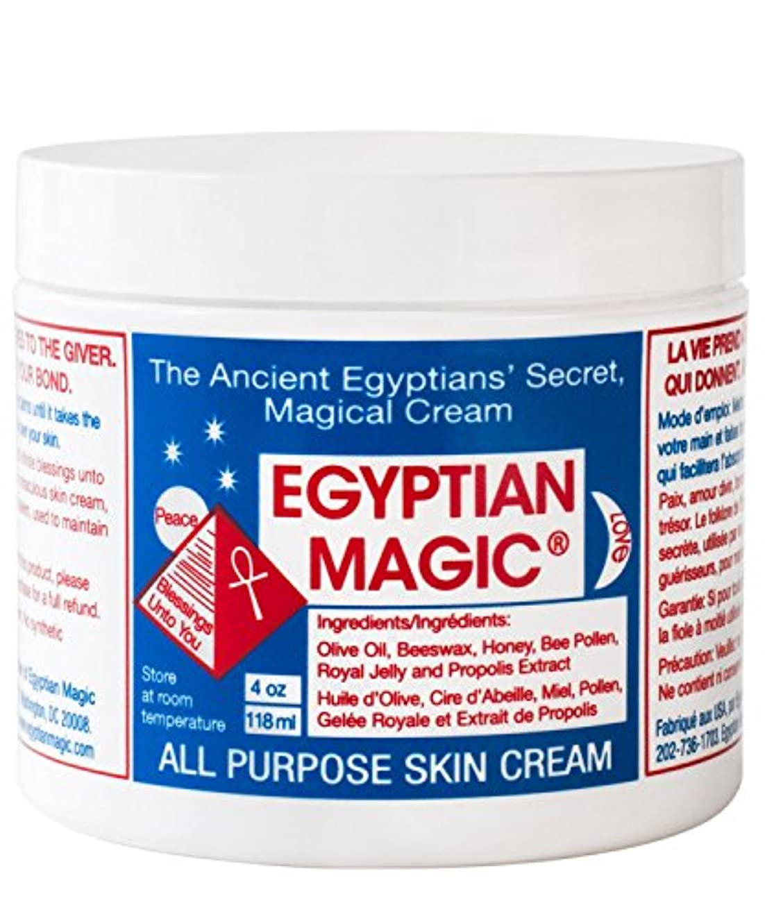 広まった学生旅行者エジプトの魔法の万能スキンクリーム118ミリリットル x4 - Egyptian Magic All Purpose Skin Cream 118ml (Pack of 4) [並行輸入品]