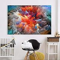 Faaddd 現代の抽象キャンバスアート絵画カラフルな雲壁写真用リビングルーム家の装飾フレームレス20×30インチ