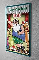 Tin Sign Christmas Retro Merry Christmas