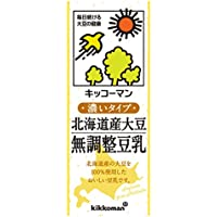 キッコーマン飲料 北海道産大豆 無調整豆乳 200ml×18本