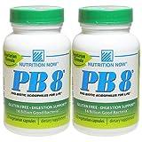 [海外直送品][2本セット]Nutrition NOW PB8 120粒 プロバイオティック アシドフィルス(8種140億個のプロバイオティクス含有)