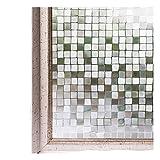 CottonColors 3D窓用フィルム 目隠しシート 何度でも貼り直せる 窓ガラスフィルム 遮熱 紫外線カット のりなし プライバシーガラスフィルム DIY 90x200cm [石道011]