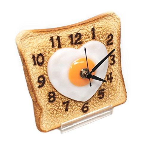 Real Gift ハートのエッグパン時計 SN04-3035 食品サンプル時計 アナログ 置時計