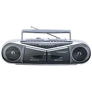 WINTECH ダブルラジカセ(FMワイドバンド対応) ブラック MJ-182