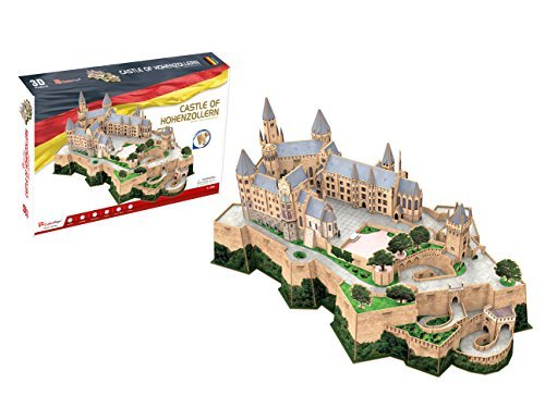 CubicFun MC232h World's Great Architectures Castle of Hohenzollern 3d Puzzle, 185 Pieces