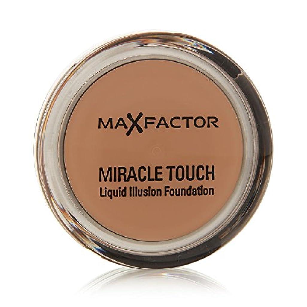 咲く時間賛美歌Miracle Touch Foundation de Max Factor - fond de teint Caramel 85