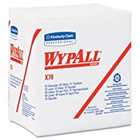 Kimberly-Clark Professional 412-41200 Wypall X70 Workhorse Rags 1-4 Fold White - Case of 12