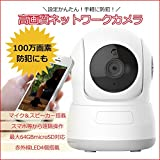 720P ネットワークカメラ マイク 内蔵 家庭 駐車場 監視 カメラ 100万 画素 ベビーモニター 355度 水平回転 メモリカード 対応 暗視 対応 P2P 遠隔 操作 ホワイト SN-S632KC