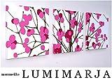 ファブリックパネル アリス marimekko LUMIMARJAPINK 30×30×2.5cm 3枚セット ピンク マリメッコ 人気インテリア 北欧 ルミマルヤ LUMIMARJA 【同梱可】