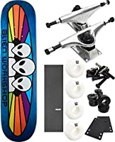 "Alien Workshop Spectrum Smallスケートボード7.87"" X 31.25"" Complete Skateboard–7項目のバンドル"