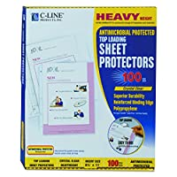 Hvywt Poly Sht Protector, Antimicrobial, Clear, Top-Loading, 11 x 8 1/2, 100/BX (並行輸入品)