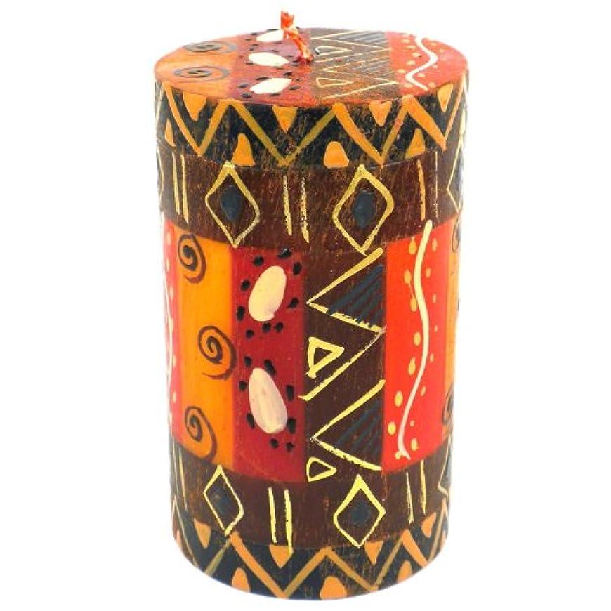 イライラする積分伝染病Nobunto Single Boxed Hand-Painted Pillar Candle - Bongazi Design