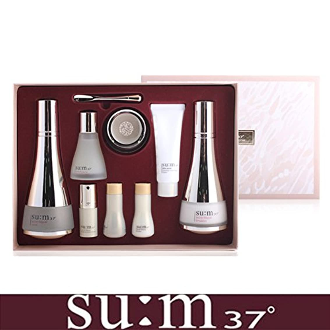 伝説寛大なキー[su:m37/スム37°] SUM37 Secret Repair 3pcs Special Skincare Set / シークレットリペア3種セット+[Sample Gift](海外直送品)