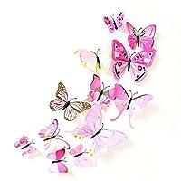 蝶々 バタフライ 蝶型貼り紙 立体 3D カラフル DIY ウォールステッカー アニマル モデル パーティグッズ 小道具 壁飾り ウォールデコレーション