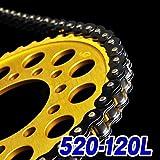 チェーン 520-120L ブラック チェーン RGV250ガンマ XL250 KDX250SR KLE400 TRX200SX FZR400 DRZ400SM CBX250RS GB250 GN400T バンディットVZ ZX-6RR XL2...
