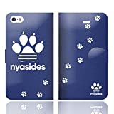 [iPhoneSE 5S 5 兼用 手帳型 ケース カバー] NYASIDES ニャシデス C