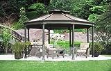 ガゼボ 【1台限り格安販売】ガゼボ OCTAGONAL GAZEBO 屋外用サンブレラ 小屋 オクタゴナル ガゼボ 庭 diy 4.4m x 4.8m x 高さ3.2m あづまや