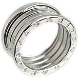 ブルガリ BVLGARI ビーゼロワン リング 指輪 12.5号 4バンド Mサイズ 18金 ホワイトゴールド メンズ 中古
