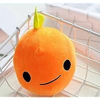 HuaQingPiJu-JP クリエイティブ10cmシミュレーションフルーツオレンジピローおもちゃ竹炭パッケージソフトぬいぐるみギフト(オレンジ)