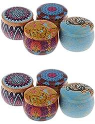 B Blesiya キャンドル アロマ 缶 香りキャンドル 携帯用 家庭 オフィス 教会 8個セット