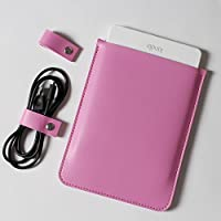 Hzjundasi Microfiber Leather Slim Protective Case Cover Sleeve Bag Holder Pouch for Amazon Kindle Voyage E-reader Pink