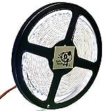 Smile Panda プロ仕様 24V LEDテープ ホワイト 白 白ベース 600連 5m 0.5sq AWG20 両端リード線 正面発光 防水 IP65 ハンダ付不要 切断可能 強力粘着両面テープ