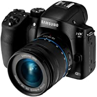 Samsung NX30 20.3MP CMOS Smart WiFi & NFC Mirrorless Digital Camera with 18-55mm Lens and 3 AMOLED Touch Screen and EVF (Black) by Samsung